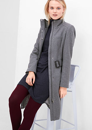 Figure-enhancing wool blend coat from s.Oliver