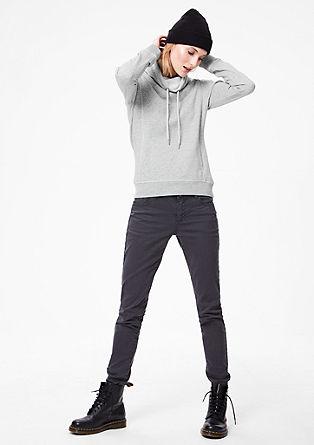 Sweatshirt met sjaalkraag