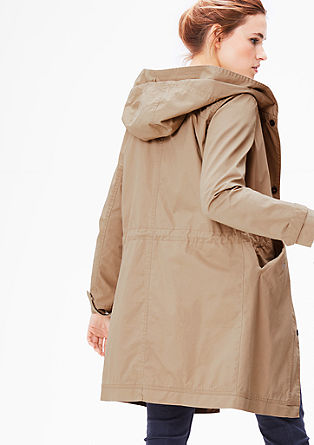 Lightweight parka with a hood from s.Oliver