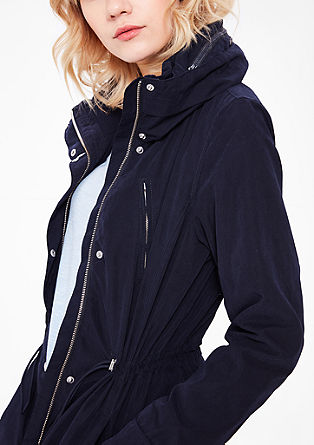 Parka with a concealed hood from s.Oliver