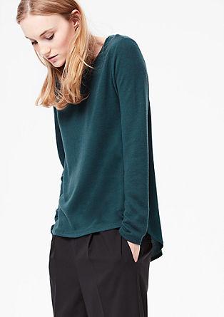 Pletený pulovr s halenkovým zadním dílem