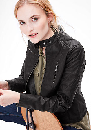 Imitation leather rocker jacket from s.Oliver