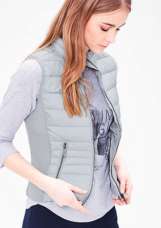 Down body warmer with ribbed details from s.Oliver