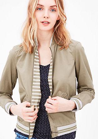 College-Jacke aus Baumwolle