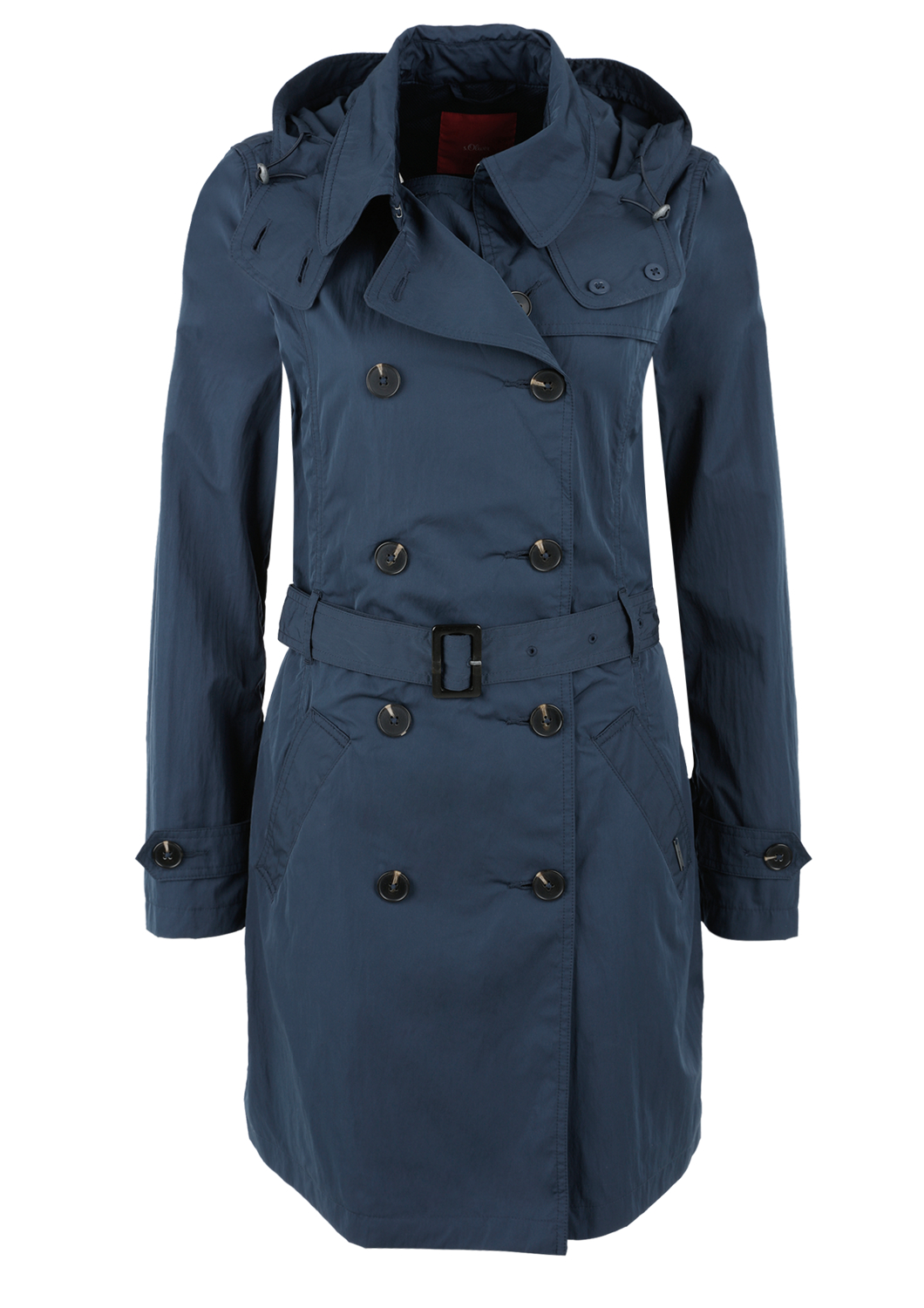 Trenchcoat | Bekleidung > Mäntel > Trenchcoats | Blau | Obermaterial 56% polyester -  44% polyamid| futter 100% polyester | s.Oliver
