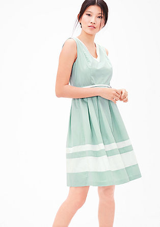 Summer dress made of cotton satin from s.Oliver