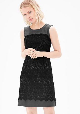 Double Layer-Kleid mit Spitze