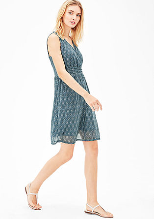 Mesh dress with an all-over print from s.Oliver
