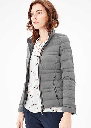 Melierte Light Down-Steppjacke