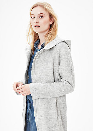 Lightweight bouclé coat from s.Oliver