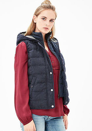 Quilted waistcoat with a hood from s.Oliver
