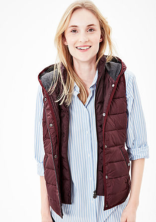Light down body warmer with contrast details from s.Oliver