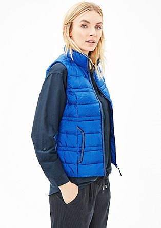 Sporty quilted down body warmer from s.Oliver