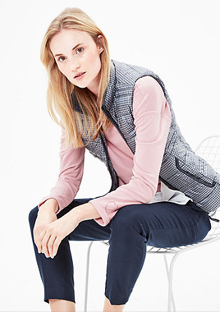 Lightweight down body warmer with small checks from s.Oliver