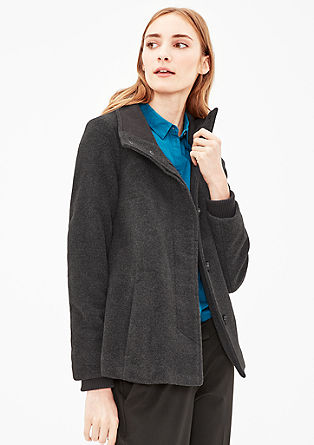 Wool jacket with a stand-up collar from s.Oliver
