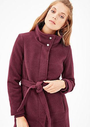 Wollflausch-Mantel mit Bündchen