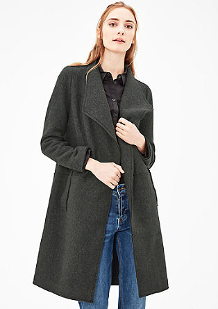 Lightweight coat in wool fleece from s.Oliver