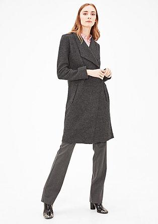 Leichter Mantel aus Wollfleece