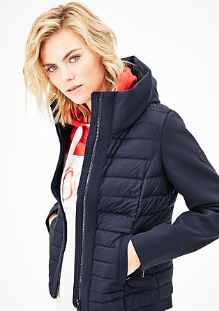 Down jacket in a material mix from s.Oliver