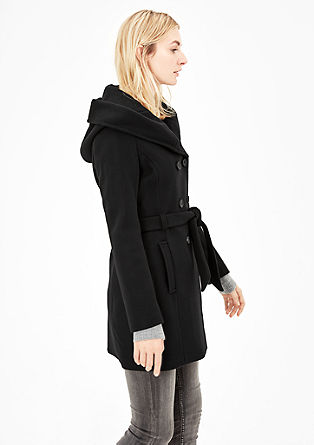 Wool coat with a hood from s.Oliver