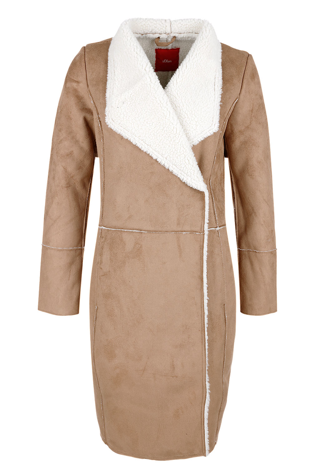 Buy Coat With A Lambskin Finish Soliver Shop