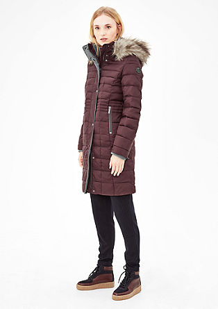 Figure-enhancing down coat from s.Oliver
