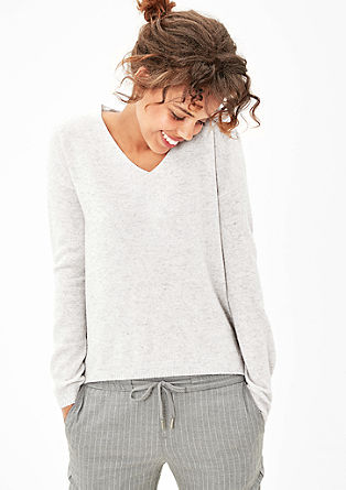 V-neck jumper with wool and cashmere from s.Oliver