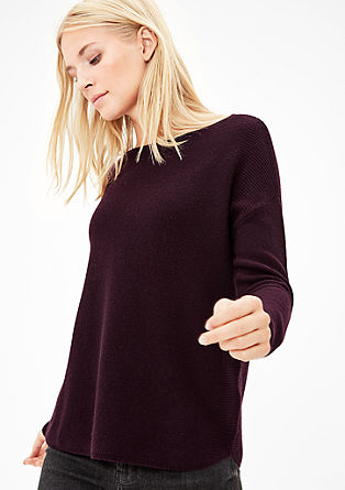Knit jumper made of wool and cashmere from s.Oliver