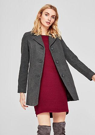 Manteau en laine de coupe cintrée de s.Oliver