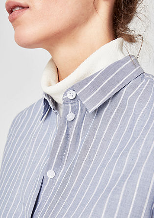 Striped shirt blouse with a print from s.Oliver