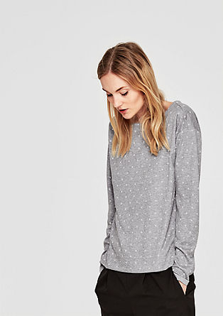 Double Face-Shirt mit Muster