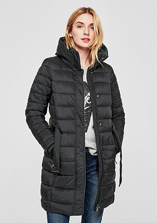 Quilted coat with ribbed cuffs from s.Oliver