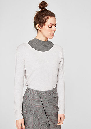 Jumper with a ribbed insert from s.Oliver