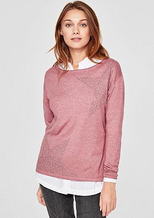 Pullover mit Schmucksteinen