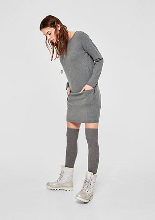 Knit dress with a rolled hem from s.Oliver