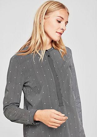 Kragenlose Bluse mit Print