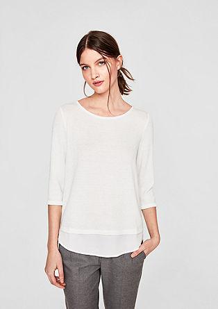 Layering-Shirt mit Glitzereffekt