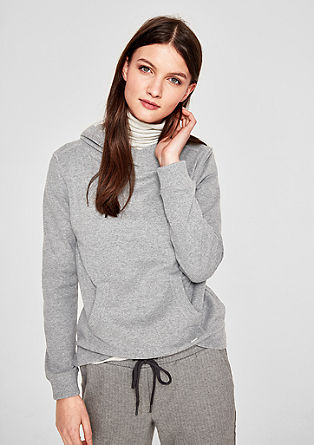 Melange hoodie with glitter details from s.Oliver