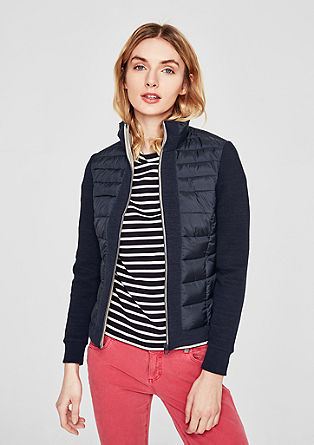 Lightweight quilted jacket with crêpe details from s.Oliver