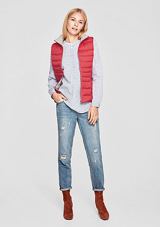 Down body warmer with a soft jersey collar from s.Oliver