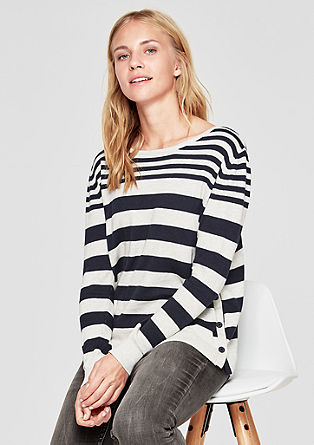 Knit jumper with a stripe pattern from s.Oliver