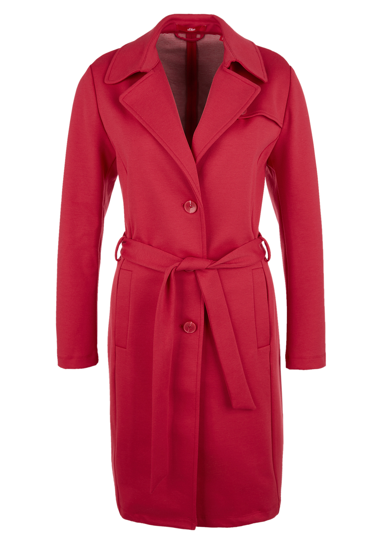 Jersey-Trenchcoat | Bekleidung > Mäntel > Trenchcoats | Rot | 44% polyester -  40% viskose -  12% baumwolle -  4% elasthan | s.Oliver