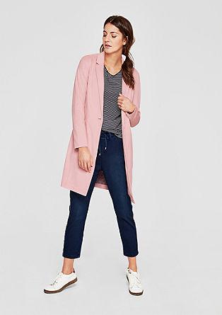 Lehký velurový kabát