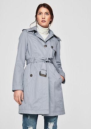 Trench coat with a collar from s.Oliver