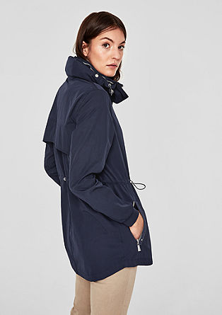 Jacke in Nylon-Optik