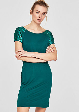 Jersey dress with sequins from s.Oliver
