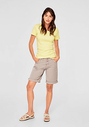 Smart Bermuda : short en twill de s.Oliver