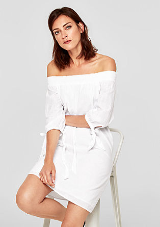 Offshoulderkleid aus Baumwolle