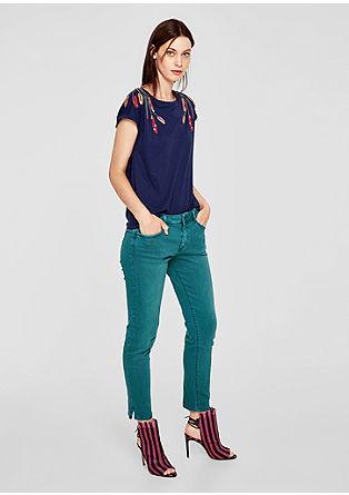 Shape Ankle: Barvne jeans
