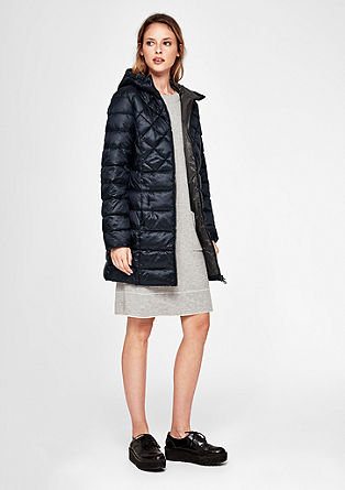 Quilted coat with sheen from s.Oliver